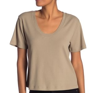 Abound Scoop Neck Ribbed Knit T-Shir